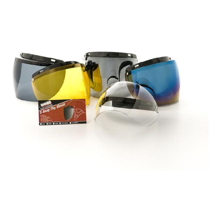 Echo 3-Snap Flip-Up Visor Shield