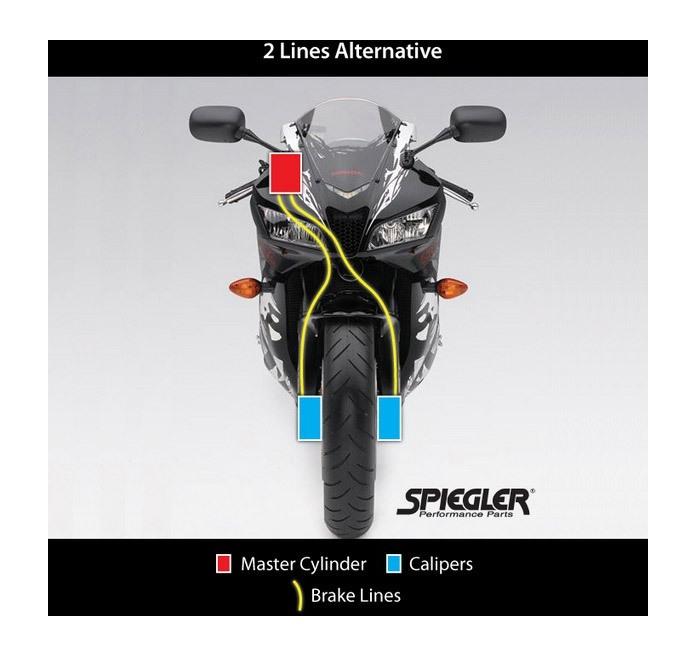 Spiegler Front And Rear Brake Line Kit Alternative Front Routing Suzuki  GSXR600 2004-2005