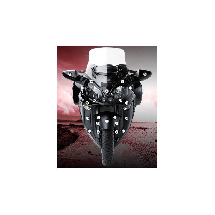 Eazi-Grip Eazi-Guard Protective Film Kit Kawasaki Concours 14 2014-2018