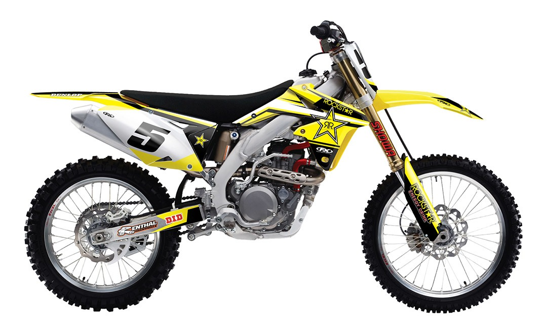 Pro Taper Handlebars >> Factory Effex Rockstar Shroud / Airbox Graphics Kit Suzuki RM85 2002-2016 - Cycle Gear