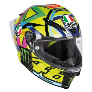 AGV Pista GP R Carbon Rossi Soleluna 2016 Helmet (Color: Yellow / Size: MS) 1183475