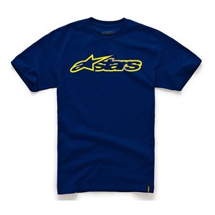 Alpinestars Blaze T-Shirt (Color: Navy/Yellow / Size: 2XL) 1096898