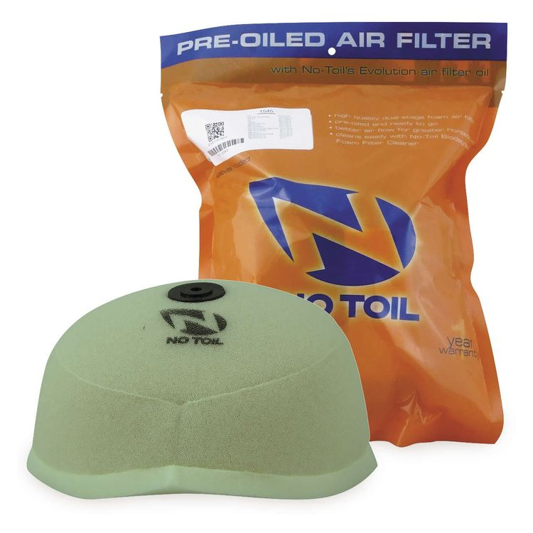 No Toil Pre Oiled Air Filter Kawasaki KX125 / KX250 1994-2007