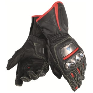 Dainese Full Metal D1 Gloves (Color: Black/Fluo Red / Size: XL) 1149786