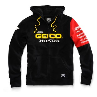 100 Team Geico Honda Factory Hoody (Color: Black/Red / Size: XL) 1194623