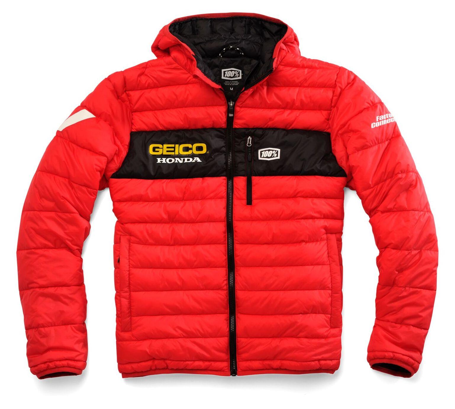 Pro Taper Handlebars >> 100% Team Geico Honda Mode Jacket - Cycle Gear