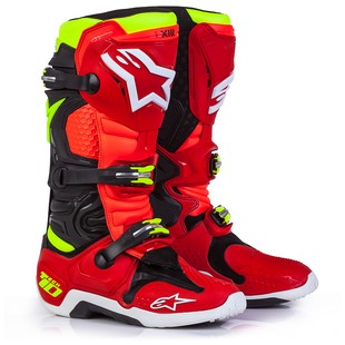 Alpinestars Tech 10 LE Torch Boots (Color: Red/Black/Fluo Yellow / Size: 9) 1194769