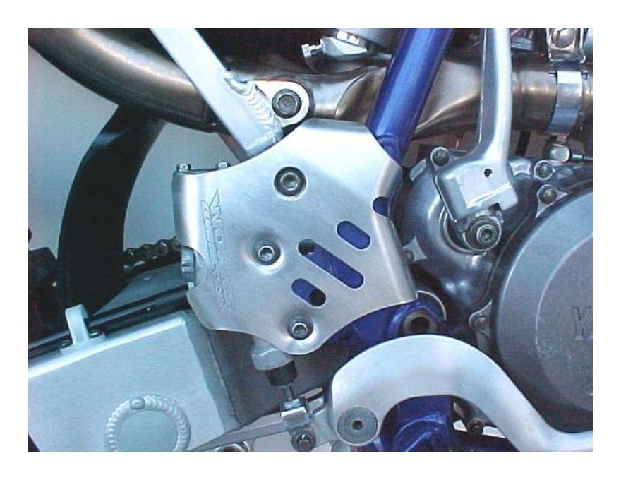 Works Connection Rear Brake Master Cylinder Guard Yamaha YZ250F YZ450F 2009