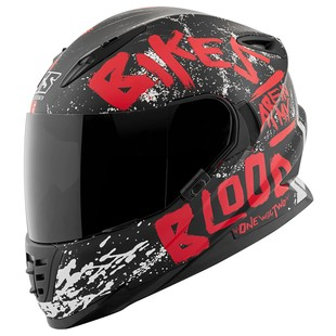Speed and Strength SS1310 Bikes Are In My Blood Helmet (Color: Red/Black / Size: LG) 1195954