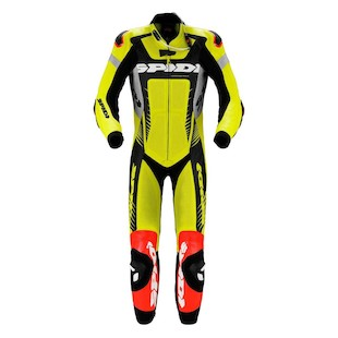 Spidi Warrior Wind Pro Race Suit [Size 56 Only] (Color: Acid Green/Black / Size: 56) 1004292
