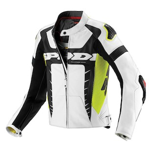Spidi Warrior Pro Jacket - (Size 52 Only) (Color: White/Fluo Yellow / Size: 52) 1021590