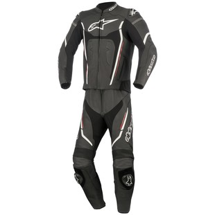 Alpinestars Motegi v2 2-Piece Race Suit (Color: Black/White/Red / Size: 48) 1197118