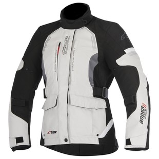 Alpinestars Stella Andes v2 Drystar Jacket (Color: Grey/Dark Grey/Black / Size: 2XL) 1197489