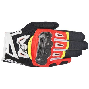 Alpinestars SMX-2 Air Carbon v2 Gloves (Color: Black/Red/Fluo Yellow / Size: 2XL) 1186068