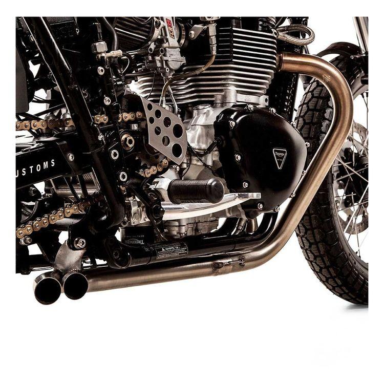 British Customs Slash Cut Tt Exhaust Triumph Bonneville T100