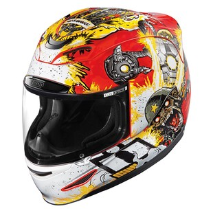 Icon Airmada Monkey Business Helmet (Color: Red/Yellow/White / Size: SM) 1198380