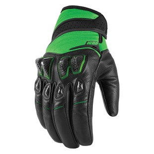 Icon Konflict Gloves (Color: Green / Size: LG) 1198164