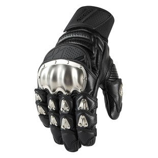 Icon TiMax Short Gloves (Color: Black / Size: LG) 1198188