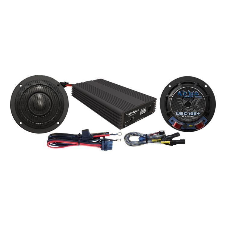 "Wild Boar By Hogtunes 6.5"" Speakers & 400 Watt Amp Kit For Harley Touring 2014-2019"