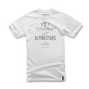 Alpinestars Worldwide T-Shirt (Color: White / Size: SM) 1200659