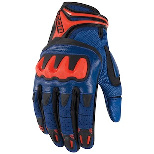 Icon Overlord Resistance Gloves - Closeout (Color: Blue / Size: MD) 917890