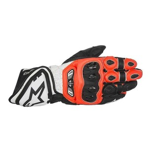 Alpinestars GP Tech Gloves (Color: Black/Fluo Red/White / Size: LG) 1186018