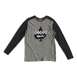 Klock Werks Raglan Sleeve T-Shirt (Color: Black/Grey / Size: XL) 1202922
