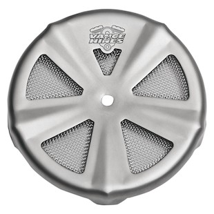 Vance & Hines Skull Cap VO2 Crown Air Cleaner Insert (Type: Crown / Finish: Matte Chrome) 950378