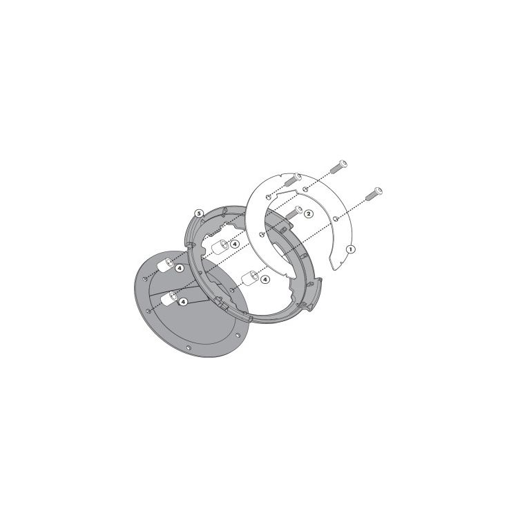 Givi Tanklock Bike Specific Flange Honda CB / CBR / VFR 2014-2019