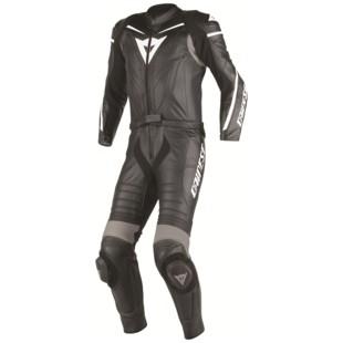 Dainese Laguna Seca D1 Two Piece Race Suit (Color: Black/Black/Anthracite / Size: 44) 1043376