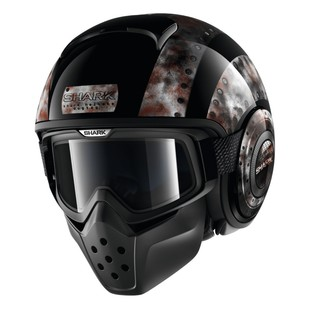 Shark Drak Dogtag Helmet (Color: Black / Size: XS) 1205776