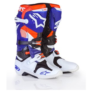 Alpinestars Tech 10 LE Indianapolis Boots (Color: Blue/White/Red / Size: 9) 1205974