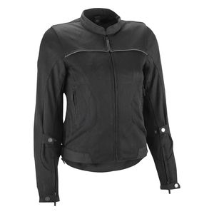 Black//Large Speed and Strength Sinfully Sweet Mesh Womens Street Motorcycle Jacket