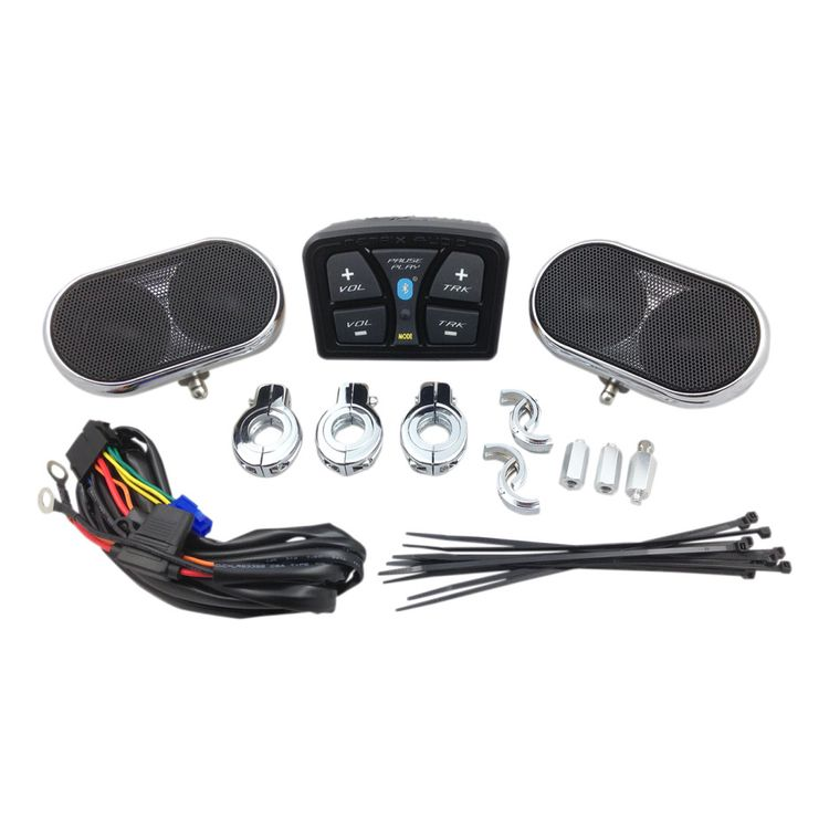 Metrix Audio By Hogtunes Bluetooth Universal 4 Speaker Handlebar System