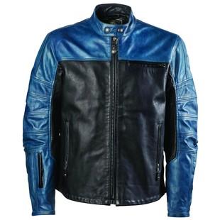 Roland Sands Ronin Colorblock Leather Jacket (Color: Blue Steel/Black / Size: SM) 1209477