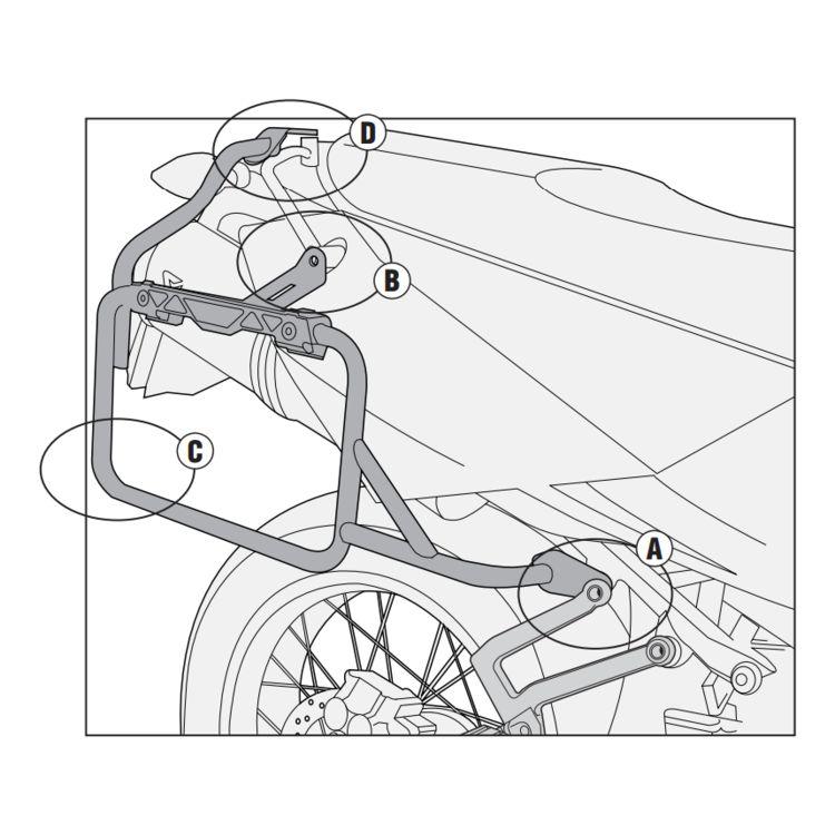 givi pl7700cam side case racks ktm adventure 950 990 2003 2012 2015 Honda CTX700 givi pl7700cam side case racks ktm adventure 950 990 2003 2012 cycle gear