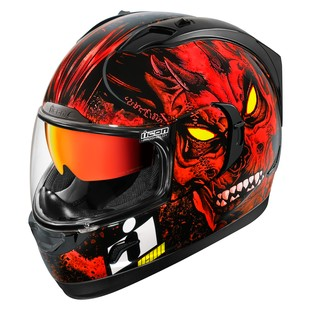 Icon Alliance GT Horror Helmet (Color: Red / Size: XS) 1219907