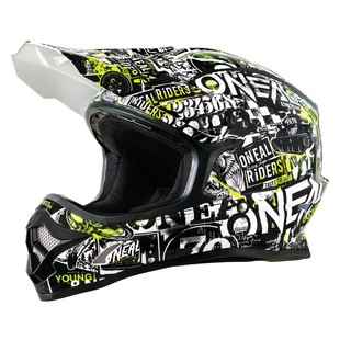 O'Neal Youth 3 Series Attack Helmet (Color: Black/Hi-Viz / Size: MD) 1223577