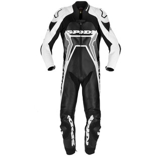 Spidi Warrior 2 Wind Pro Race Suit (Color: Black/White / Size: 54) 1166269