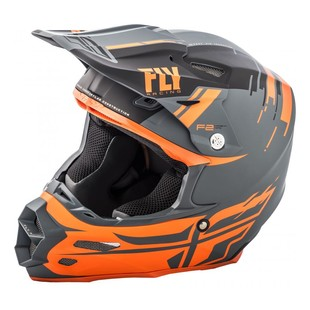 Fly Racing F2 Carbon MIPS Forge Helmet (Color: Charcoal/Orange/Grey / Size: XS) 1225239