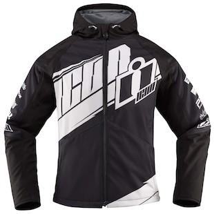 Icon Team Merc Women's Jacket - Closeout (Color: Black/White / Size: LG) 1009733