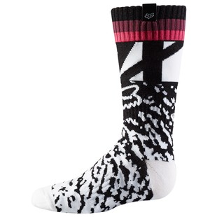 Fox Racing Youth MX Girl's Socks (Color: Black/Pink / Size: LG) 1236669