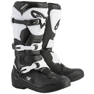 Alpinestars Tech 3 Boots (Color: Black/White / Size: 8) 1237488
