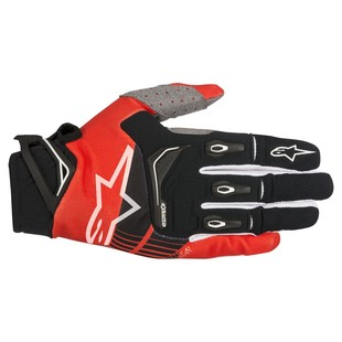 Alpinestars Techstar Gloves (Color: Black/Red / Size: LG) 1237181