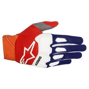 Alpinestars Racefend Gloves (Color: Blue/Orange/White / Size: LG) 1237326