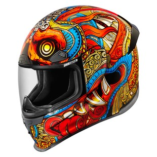 Icon Airframe Pro Barong Helmet (Color: Red/Gold / Size: XS) 1239963