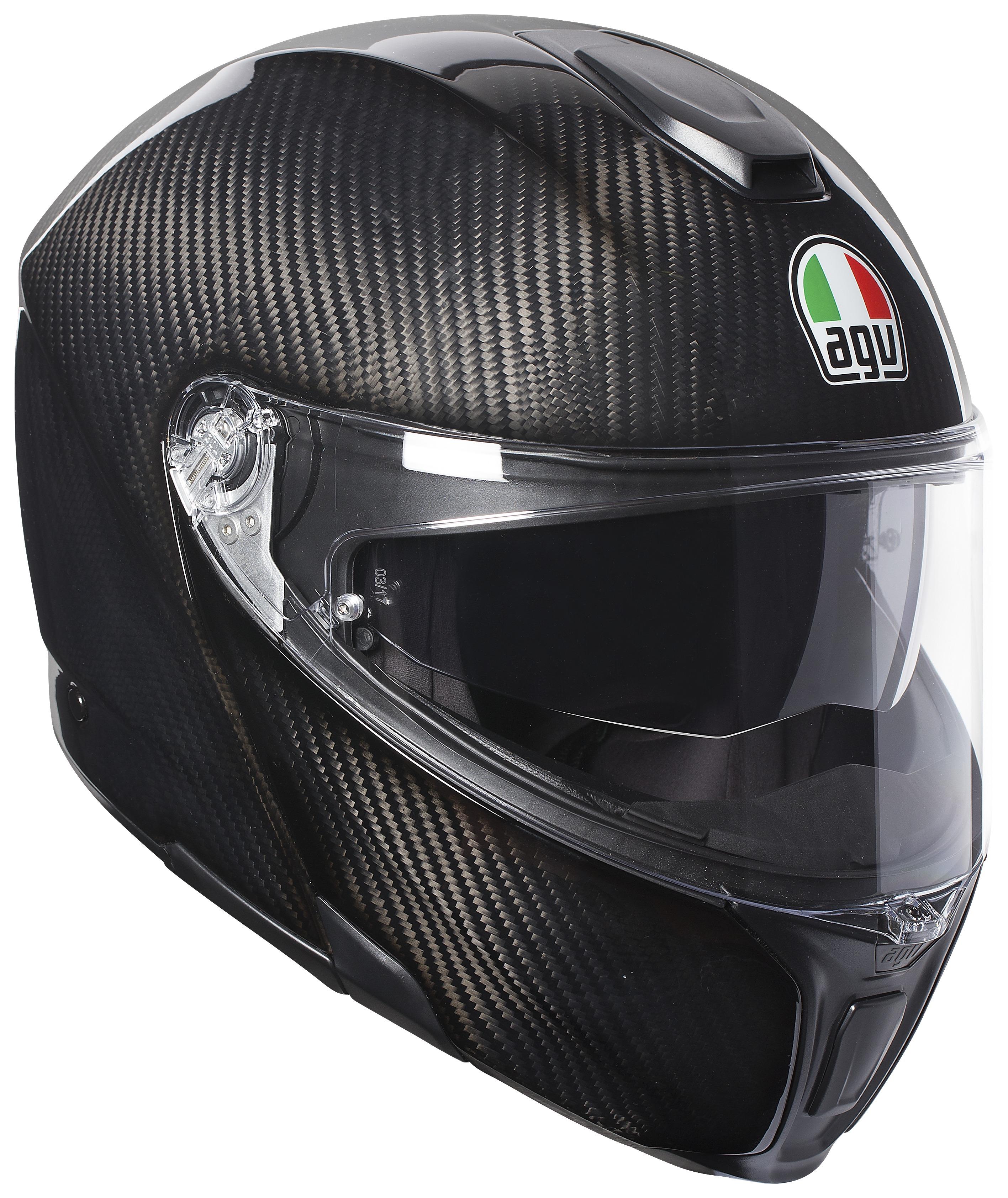 agv sportmodular carbon solid helmet cycle gear