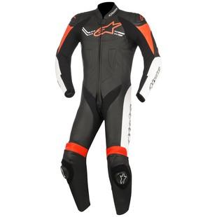 Alpinestars Challenger v2 Race Suit (Color: Black/White/Fluo Red / Size: 50) 1242802