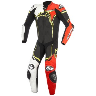 Alpinestars GP Plus v2 Race Suit (Color: Black/White/Fluo Red/Fluo Yellow / Size: 50) 1242750