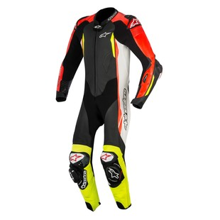 Alpinestars GP Tech V2 Race Suit For Tech Air Race (Color: Black/White/Red/Fluo Yellow / Size: 50) 1240884